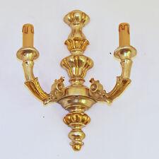 APPLIQUE LAMPADA LED ART.450 LEGNO FOGLIA ORO E ARGENTO ARTE FIORENTINA RUSTICO