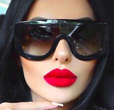 Oversized Shield Adele Top Aviator Visor Celebrity Large Fashion Sunglasses 7003
