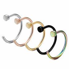 G23 Titanium Nose Hoop Earring Chin Lip Rook Helix Snug Daith Piercing Ring 8mm