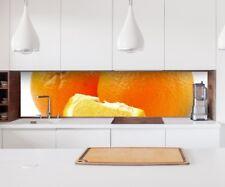 Aufkleber Küchenrückwand Orange Küche Obst Apfelsine Folie Spritzschutz 22A837
