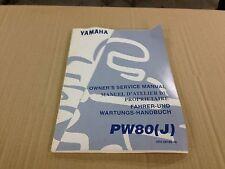 Revue technique Manuel Owner's service manual Yamaha PW80 (J)