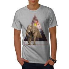 Wellcoda éléphant espace T-shirt homme, Triangle Design graphique imprimé Tee
