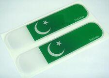 "Pakistan Pakistani Flag Domed Decal Emblem Car Flexible Sticker 5"" Set of 2"