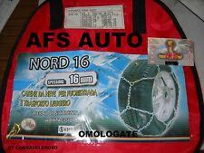 """CATENE DA NEVE""""NORD16""""16MM 245/70-16 GR.450 SUV-FUORISTRADA TRASPORTO LEGG.OMO"""