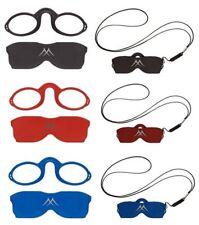 Zwicker Brille Unisex Notbrille Lesehilfe Kneifer Kunststoff + Etui + Halskette