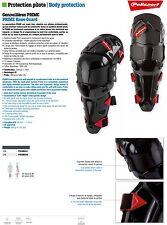 Genouillères Polisport Prime noir/rouge Moto Enduro Quad taille Adulte