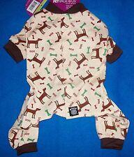 "NEW (Choose Size) Tan Brown ""Cuddle Up"" Dog Pajamas Sleepwear Pet Clothes"