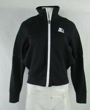 Women's Starter Black Label Black Full-Zip Sweatshirt