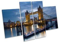 London Tower Bridge City Picture CANVAS WALL ART Four Panel