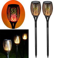 96 LEDs Flamme Lampe Solarleuchte Fackeln  Solarstrahler Garten Dekoration Licht
