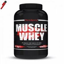 FlorioSport, Muscle Whey, 2 Kg Proteine Siero Latte+ Creatina Taurina Aminoacidi