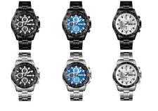 Skmei Mens Quartz Stainless Steel Strap Stopwatch 30m Waterproof Wrist Watch