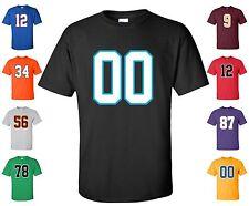 "Custom ""ANY Number"" T-Shirt 2 Color # football hockey lacrosse basketball league"