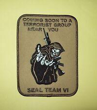 DESERT REAPER US NAVY SEAL TEAM VI MORALE MILITARY PATCH - SEAL TEAM 6