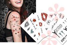 Romantic Temporary Tattoos, Paris, Lip prints, Diamond Tattoos, Valentine Tattoo