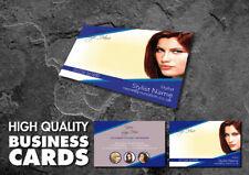 Full Colour Double Sided Business Cards for Hair Salon Blue Design BCard_00079