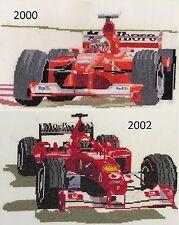 Michael Schumacher Ferrari Formula one counted cross stitch kit/chart 14s aida