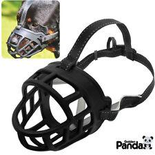 """Soft Silicone Basket Large Dog Muzzle 8-15.5"""" Month Size Secure fr Pitbull Boxer"""