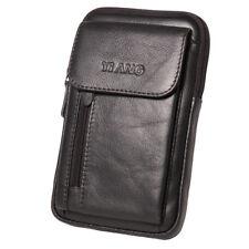 Men Small Shoulder Crossbody Bag Genuine Leather Hip Waist Hook Belt Fanny Pack