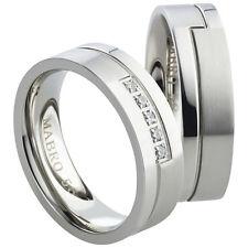 Anello FEDINE fedi anelli di fidanzamento fedi in acciaio inox incisione incl (AB)