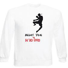 Art T-shirt, Felpa Raglan Muay Thai, senza cappuccio unisex, Bianco
