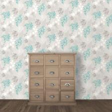 Muriva Mila Floral Argent Designer De Luxe Papier Peint 140502-B