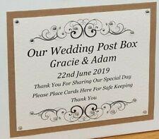 Wedding Post Box Label, Wedding Post Box Sign