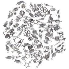 Wholesale 100pcs Bulk Lots Premium Tibetan Silver Mix Charm Pendants Jewelry DIY