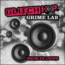 Glitch Grime Hip Hop Drum Loops Beats Electro Breaks (24-bit WAV) Logic Cubase