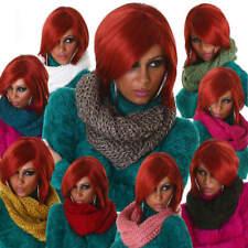 Loop Schlauchschal Strickoptik Loopschal Damen Schal Einheits-Größe einfarbig
