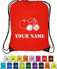 Personalizados Bolsa Saco-con cordón Bolso-Mochila-Guantes De Boxeo Diseño Hombre Bolsa