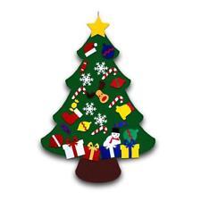 Kids Felt Christmas Tree with Ornaments Xmas Gift DIY Door Wall Hanging Decor 6L