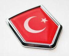 Turkey Turkish Flag Decal Car Chrome Emblem Sticker 3D