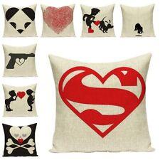 Heart Print Cushion Cover for Sofa Art Car Seat Accessories Home Textile Decor
