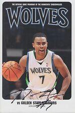Ramon Sessions Lakers MN Timberwolves Wolves Signed Program R2 COA GFA