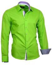 Herren Hemd Shirt Kentkragen Herrenhemd Langarm Binder de Luxe 82708 GRÜN