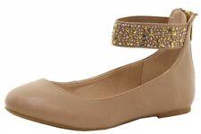 Nine West Girl's Faye Fashion Tan Ballet Flats Shoes