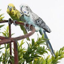 Budgie Birds Pot Sitter Ornament Statue Sculpture Figurine Animal Home Garden