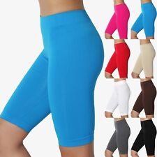 TheMogan Basic Plain Stretch Biker Short Leggings Under Skirt Burmuda Shorts