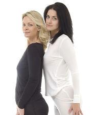 BNWT Womens Silk Thermal Long Sleeve Vest / Long John Top / Thermal Underwear!!