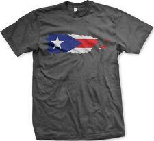 Puerto Rico Puerto Rican Territory Shape Flag Ethnic Pride -Men's T-shirt