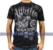 AFFLICTION Death Machine A9142 NEW Men`s Black/White Reversible T-shirt