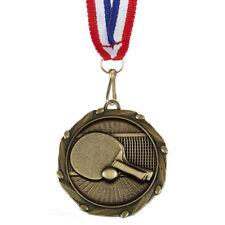 45 mm Tischtennis Medaille mit Rippen Gravur bis zu 30 Buchstaben Option von Box