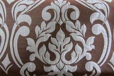 Blue & Brown Damask  Faux Silk  Curtain/Craft Fabric