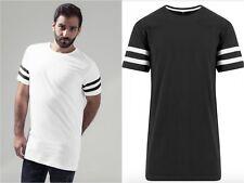 Nuevo Para hombres Camiseta 100% Algodón Ropa Casual a Rayas De Verano de Moda Cuello Redondo S M L