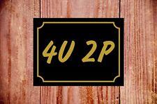 Signo de diversión baño signo 4u 2p 9328 de aluminio/PVC/Sticker novela Idea de Regalo