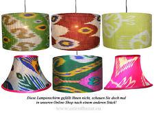 extravagant orient Uzbek Ikat stoff Schirm Lampenschirm Leuchtenschirm lampshade