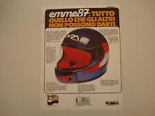 advertising Pubblicità 1981 CASCO MPA EMME 87
