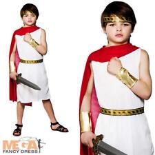 Vestido de Disfraz Toga Romana Griega Grecian histórico niños Niños Childs Traje de Disfraz