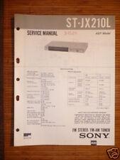 Service-Manual Sony ST-JX210L Tuner ORIGINAL